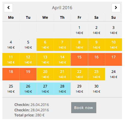 Advanced Booking Calendar in WordPress Plugin Repository