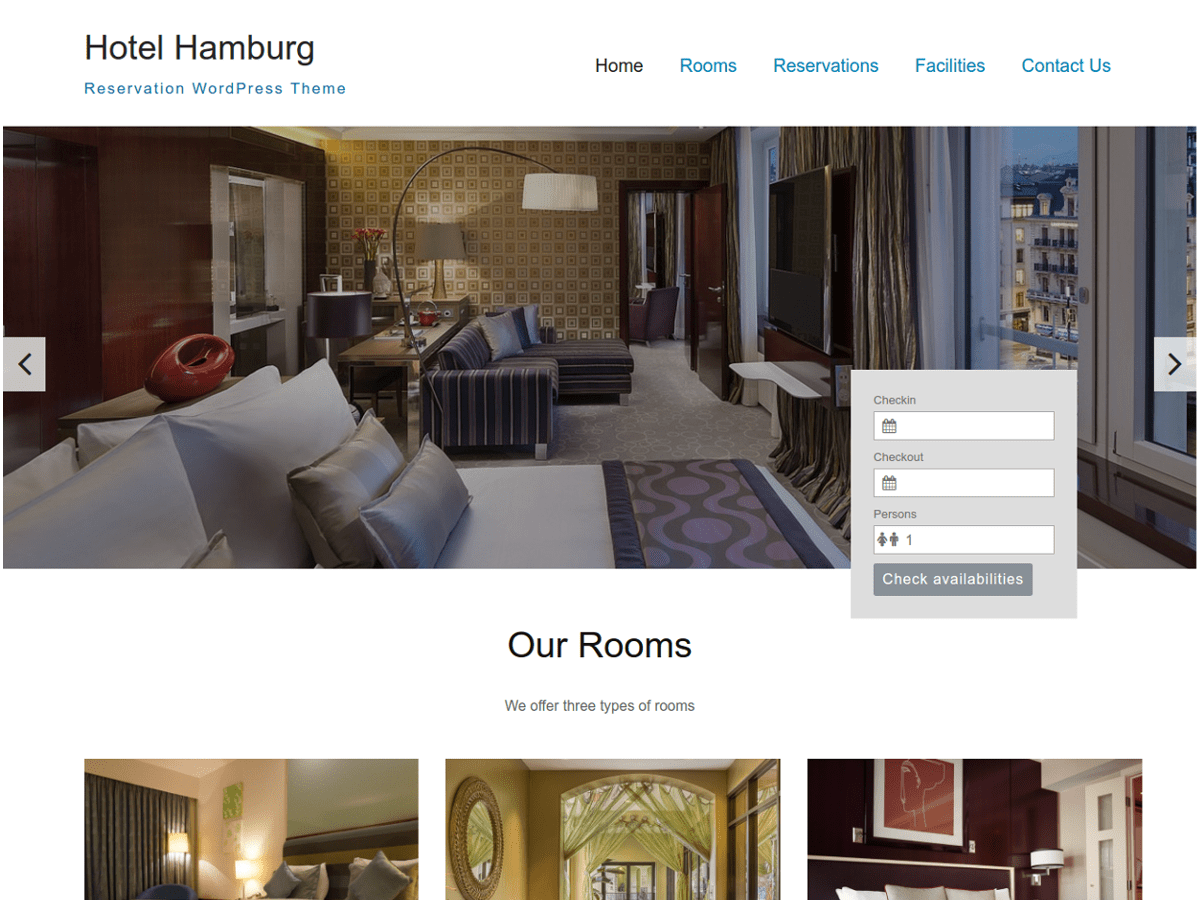 Wordpress Hotel Theme Hamburg